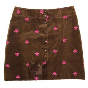 Vintage Lilly Pulitzer Corduroy Bee Skirt